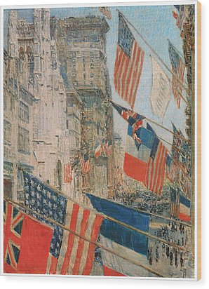 Allies Day Wood Print by Frederick Childe Hassam