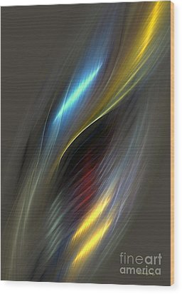 Alluring Colors Wood Print by Greg Moores