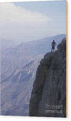 Wood Print featuring the photograph Alone At Last Copper Canyon Mexico by John  Mitchell
