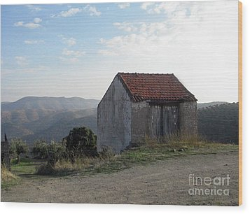 Wood Print featuring the photograph Alone On The Hill by Arlene Carmel
