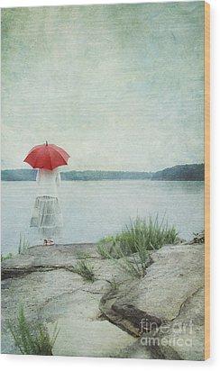 Alone Wood Print by Stephanie Frey