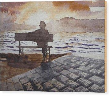 Alone... Wood Print by Vuong Anh Tuan