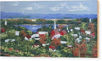 Along The Missouri  Wood Print by Anthony Falbo