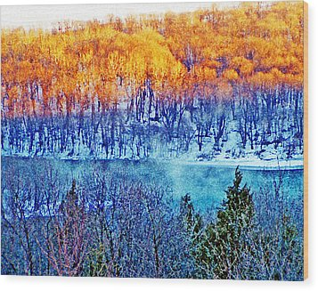 Along The Susquehanna Wood Print by See Me Beautiful Photography
