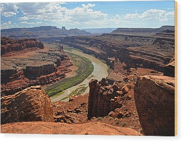 Along The White Rim Road Wood Print by Marty Koch