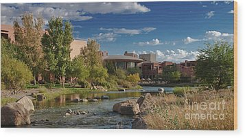 Along The Wild Horse River Wood Print by Jim Moore
