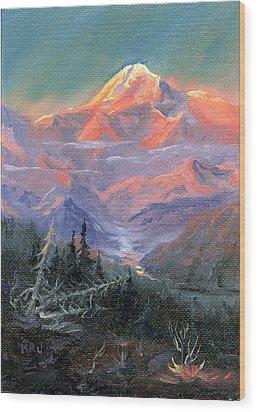 Alpen Glow Wood Print by Kurt Jacobson