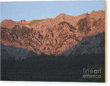 Alpenglow Wood Print by Marta Alfred