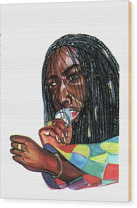 Alpha Blondy Wood Print
