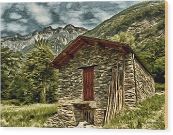 Alpine Ruins Wood Print by Jeffrey Kolker