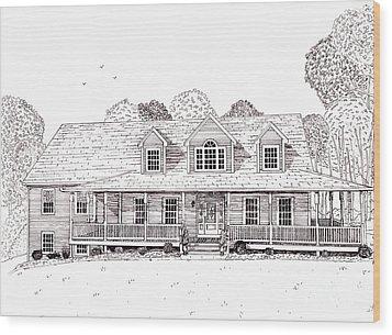 Al's House   Wood Print