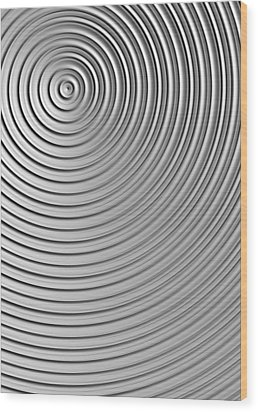 Wood Print featuring the digital art Also Not A Spiral by Jeff Iverson