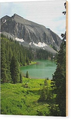 Alta Lake Colorado Wood Print by Drusilla Montemayor