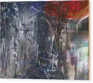 Altered Second Movements Wood Print by Linda Sannuti