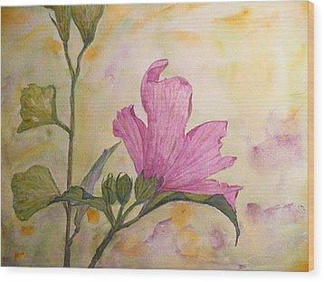 Althea Wood Print by Stella Schaefer