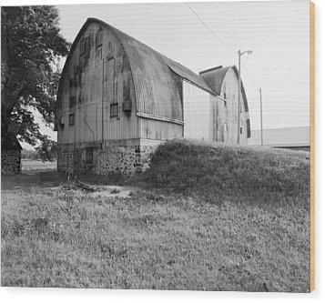 Aluminum Gotic Arch Barn Wood Print by Jan W Faul