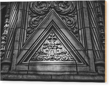 Alwyn Court Building Detail 13 Wood Print by Val Black Russian Tourchin