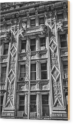 Alwyn Court Building Detail 15 Wood Print by Val Black Russian Tourchin