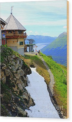 Wood Print featuring the photograph Alyeska Ski Resort Alaska by Kathy  White