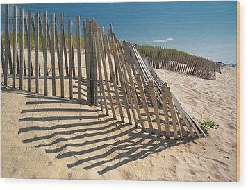 Amagansett Beach Fence Wood Print by Joseph O. Holmes / portfolio.streetnine.com