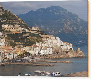Amalfi Wood Print by Bill Cannon