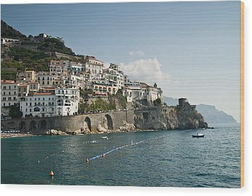 Amalfi Point Wood Print by Jim Chamberlain