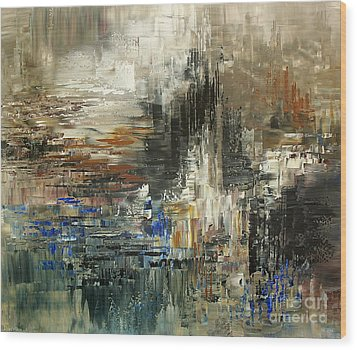 Wood Print featuring the painting Amalia Glacier by Tatiana Iliina