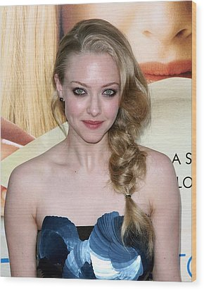 Amanda Seyfried  At Arrivals Wood Print by Everett