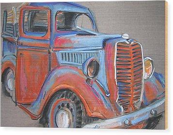 Amarillo Truck Wood Print by Barbara Richert