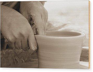 Amazing Hands Wood Print by Emanuel Tanjala