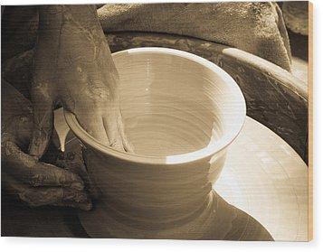 Amazing Hands IIi Wood Print by Emanuel Tanjala