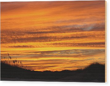 Amazing Sunset Over Obx Wood Print by Kim Galluzzo Wozniak