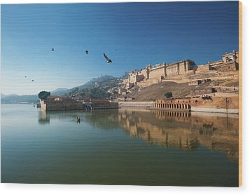Amer Fort Wood Print by Www.igorlaptev.com