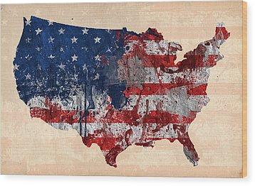 America Wood Print by Mark Ashkenazi