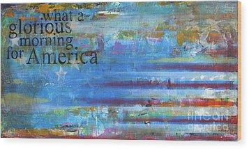 America Wood Print by Sean Hagan