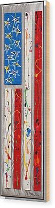 America Stretched Wood Print by Mac Worthington