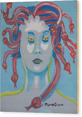 Americaine Medusa Wood Print by Jay Manne-Crusoe