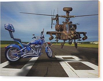 American Choppers 2 Wood Print by Ken Brannen