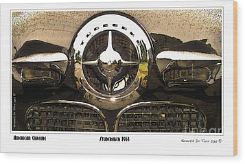 American Chrome Wood Print by Kenneth De Tore