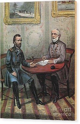 American Civil War  Wood Print by Photo Researchers