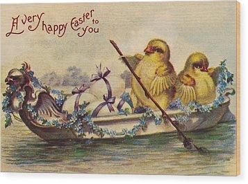 American Easter Card Wood Print by Granger