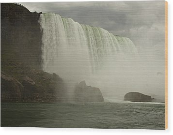 Wood Print featuring the photograph American Falls by Darleen Stry