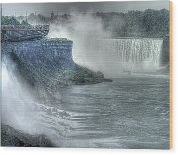 American Falls Wood Print by William Fields
