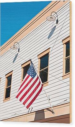 American Flag Wood Print by Tom Gowanlock