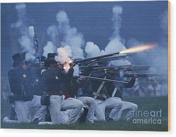 American Night Battle Wood Print by JT Lewis
