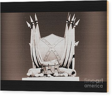 Wood Print featuring the photograph American President And Leader Of The Confederacy by Nancy Dole McGuigan