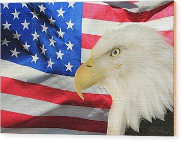 American Wood Print by Shane Bechler