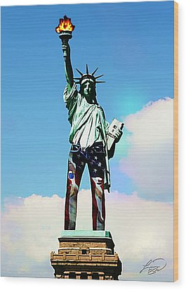 American Style Wood Print by ABA Studio Designs