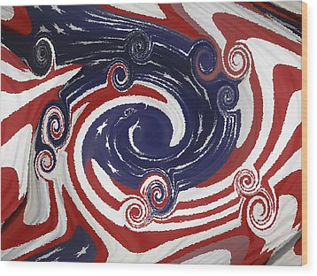 Americas Palette Wood Print by DigiArt Diaries by Vicky B Fuller