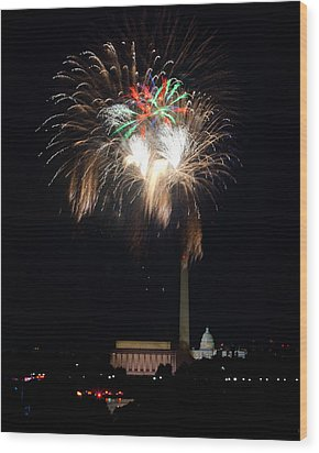 America's Party Wood Print by David Hahn